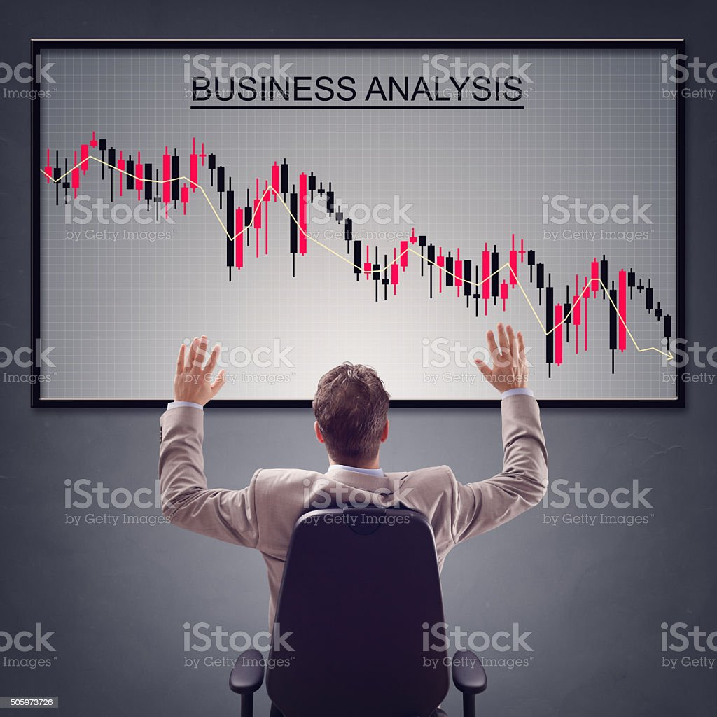 Negative business report stock photo