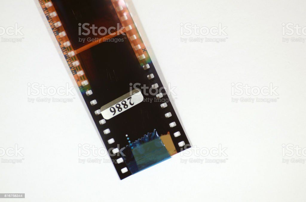 negative film from the camera. stock photo
