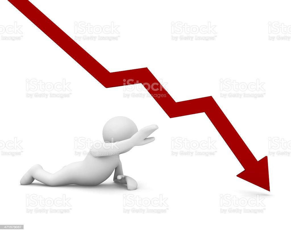 negative graph stock photo