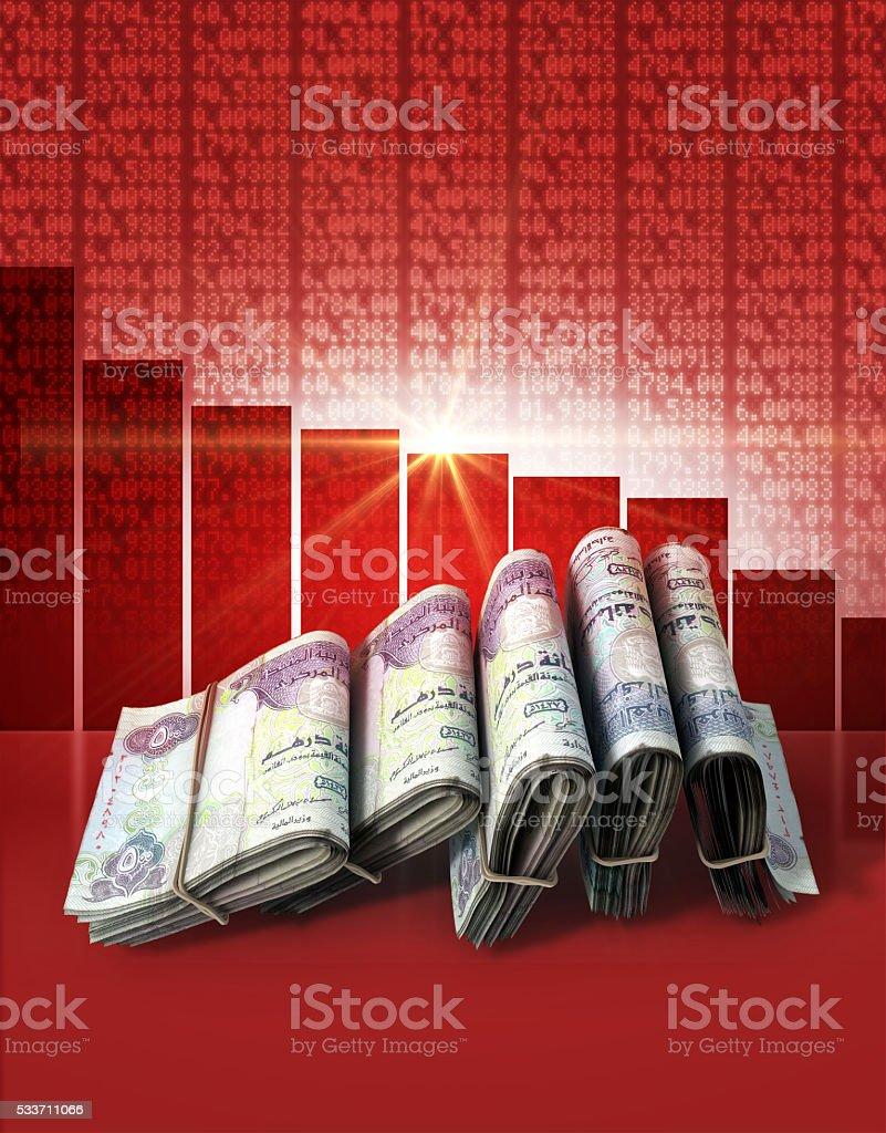 Negative Market Money stock photo