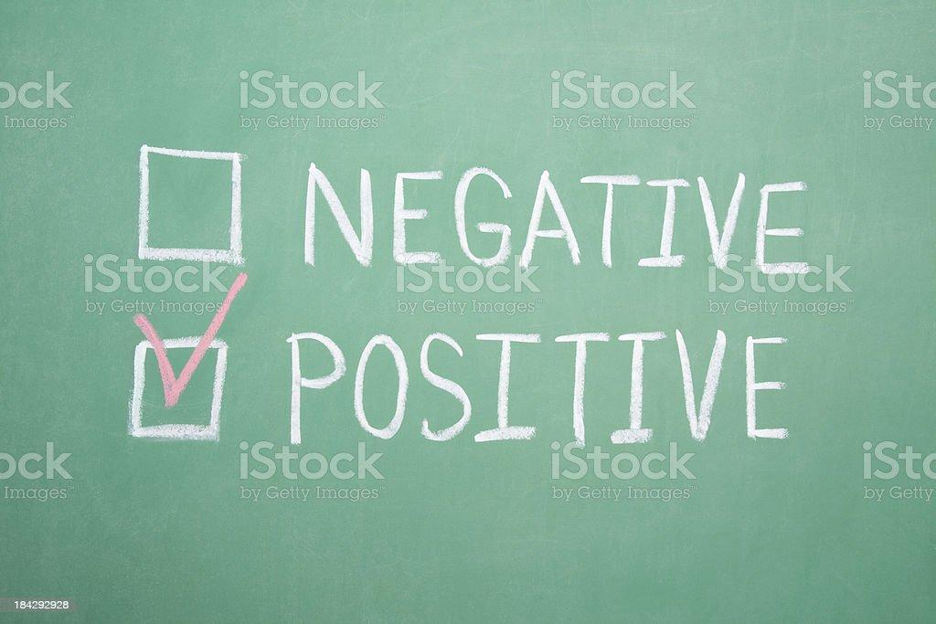 Negative Positive Chalkboard royalty-free stock photo