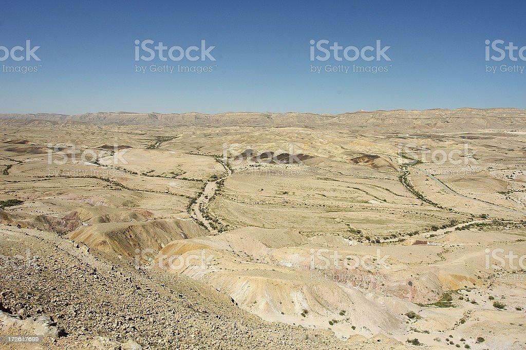 Negev Desert, Israel stock photo