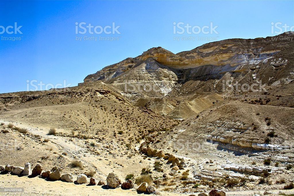 Negev Desert, Israel stock photo