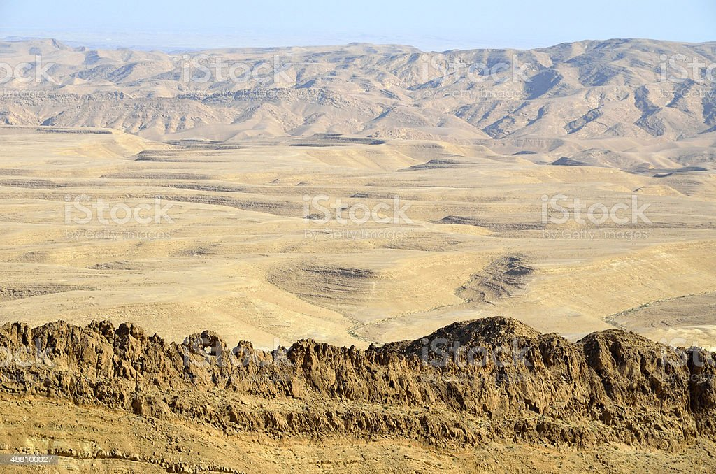 Negev desert landscape. stock photo