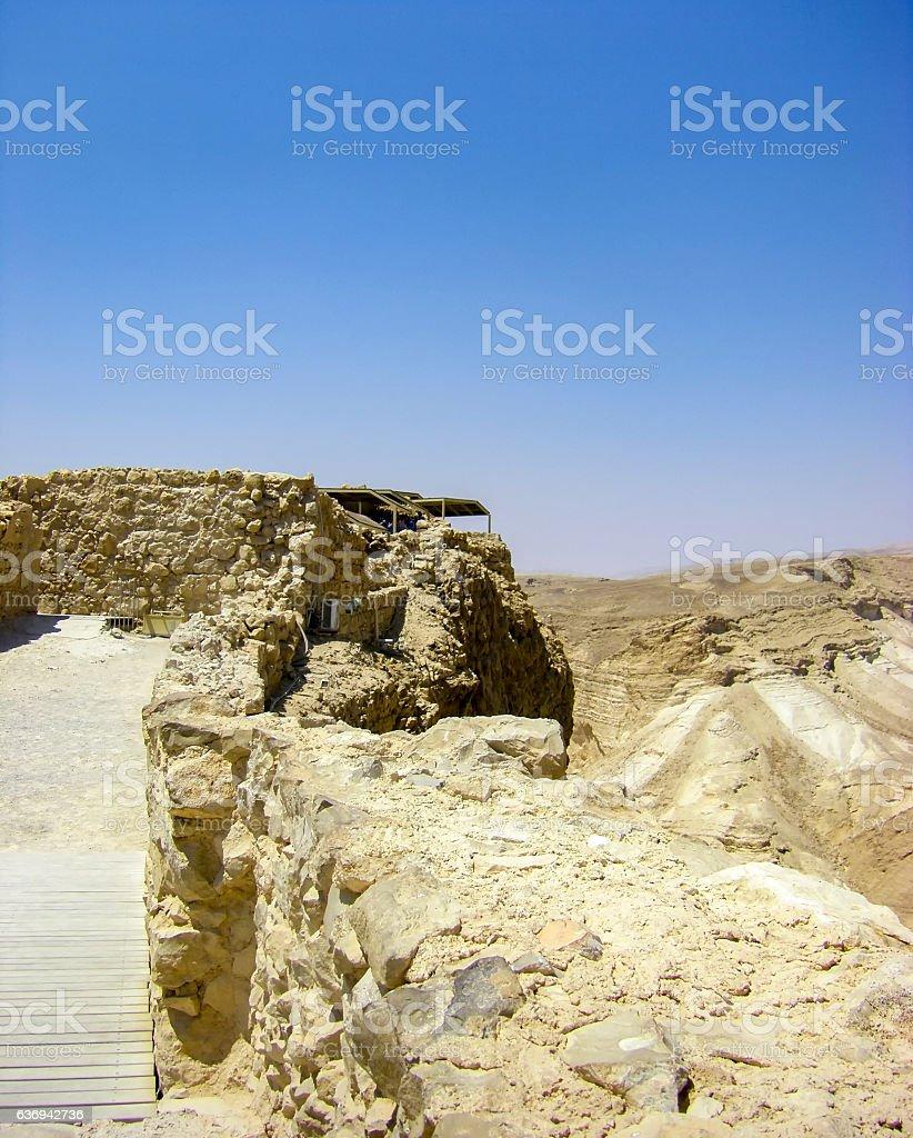 Negev desert - View of Masada stock photo