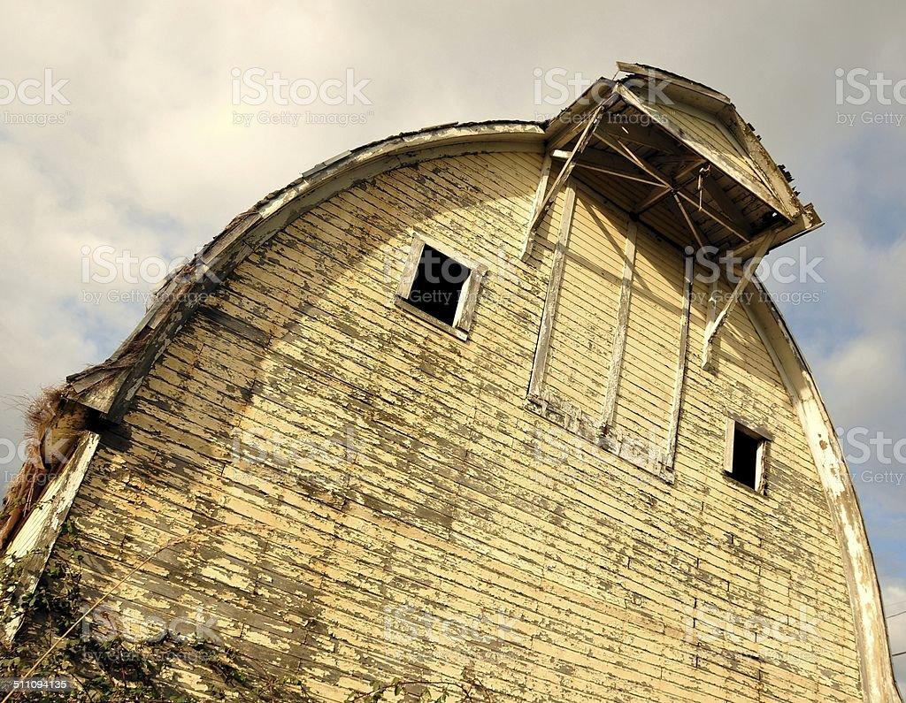 Neglected Dairy Barn stock photo