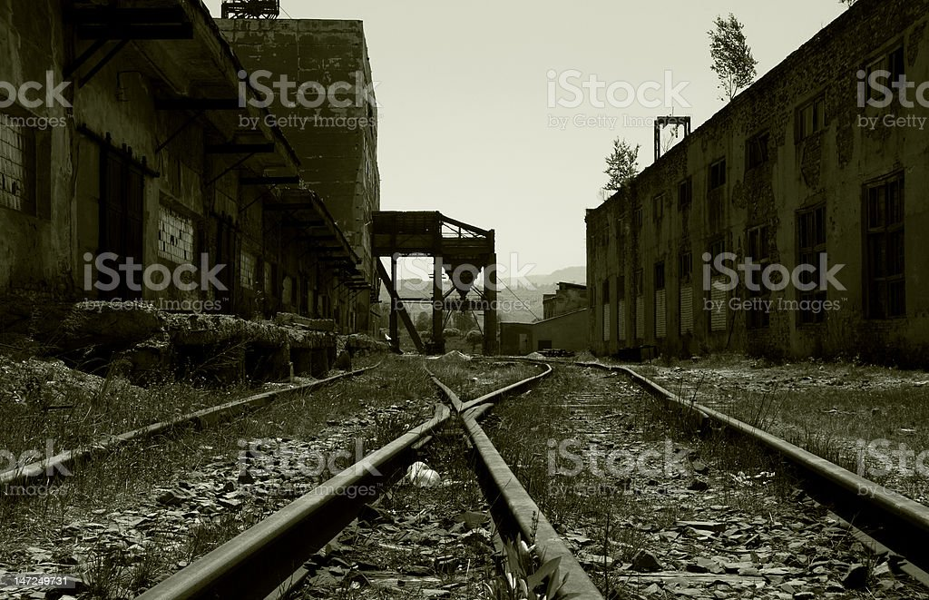 neglected factory stock photo