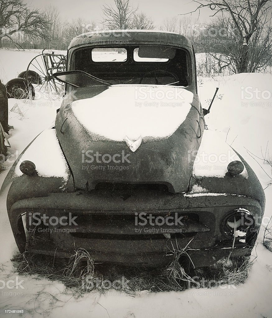 Neglected Farm Truck royalty-free stock photo