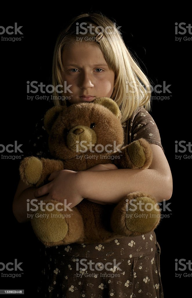 Neglected little girl royalty-free stock photo