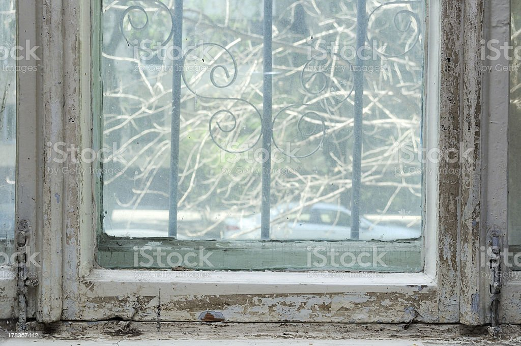Neglected window royalty-free stock photo