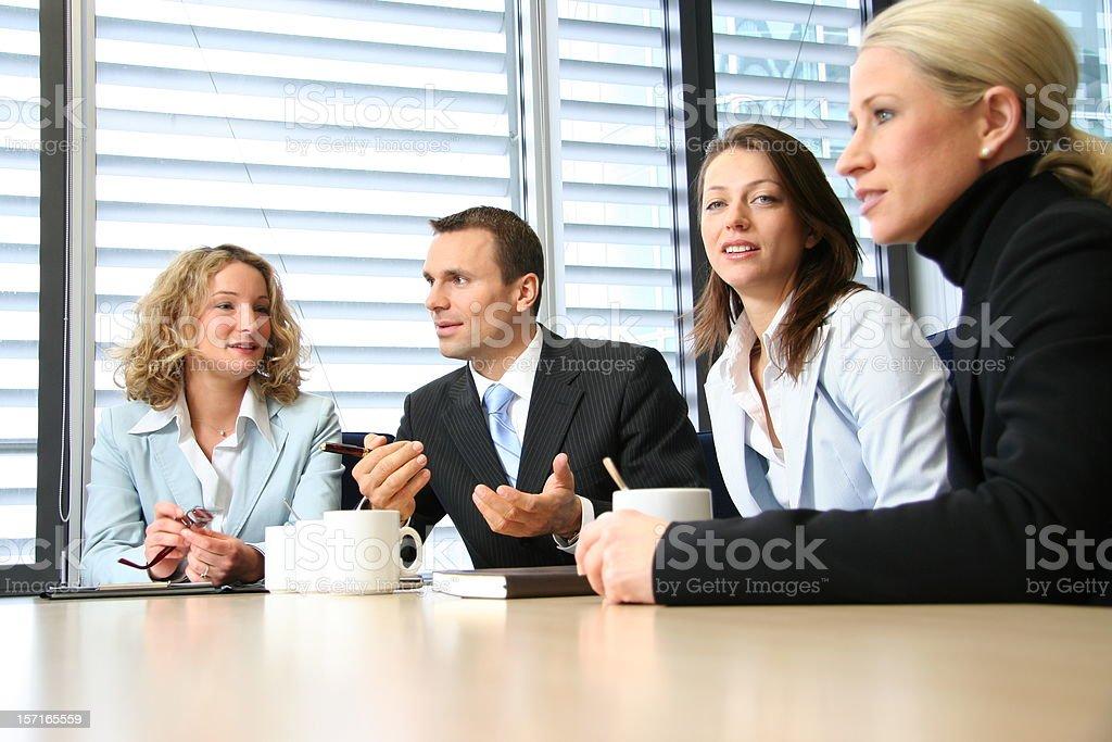 Negotiation meeting royalty-free stock photo