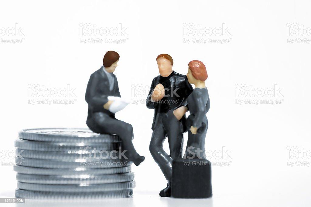 Negotiation royalty-free stock photo