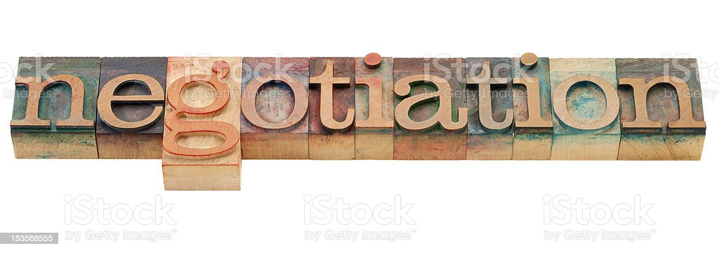 negotiation word royalty-free stock photo