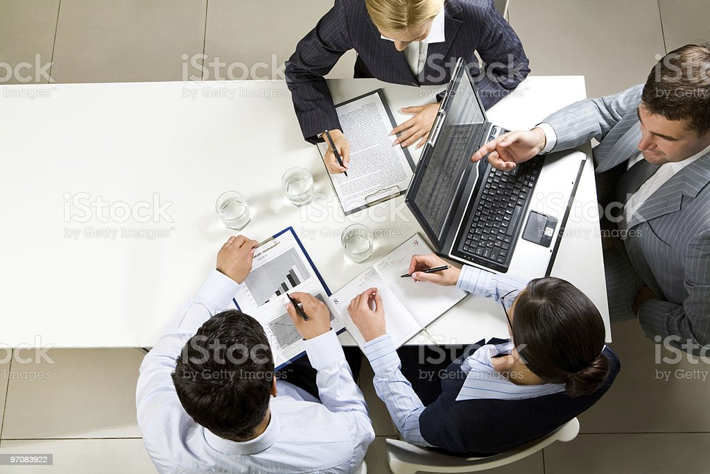 Negotiations royalty-free stock photo