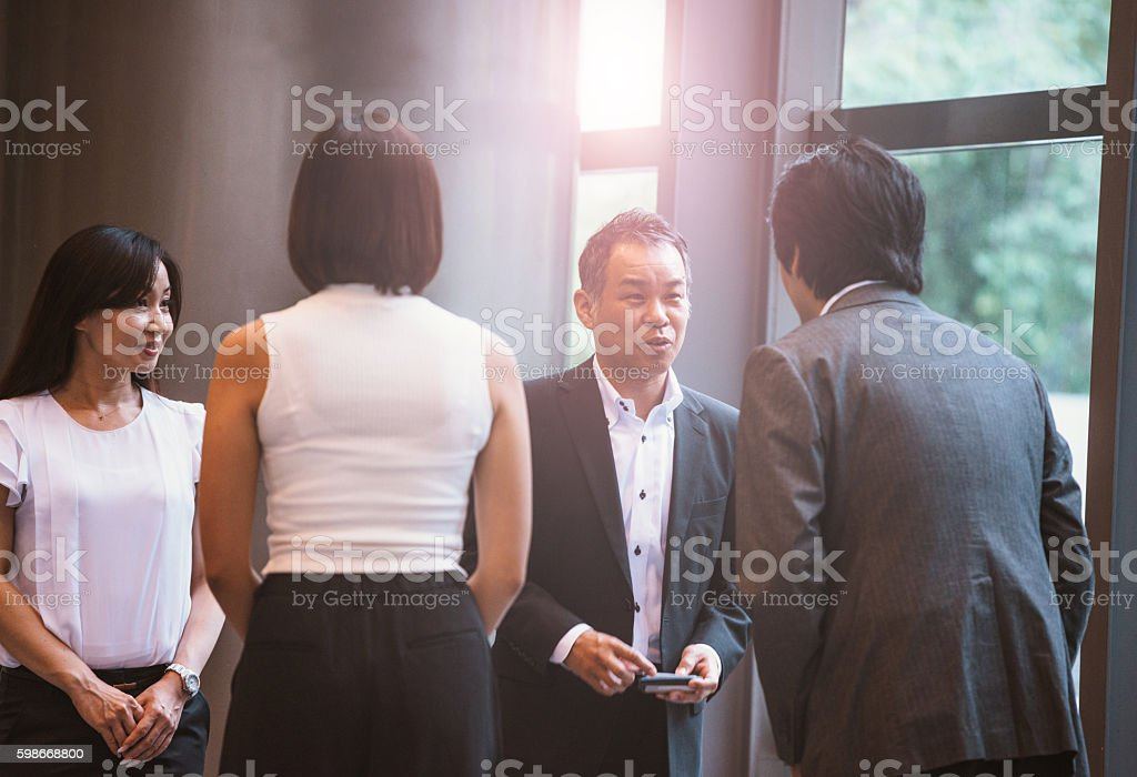 Negotiations under way in business stock photo