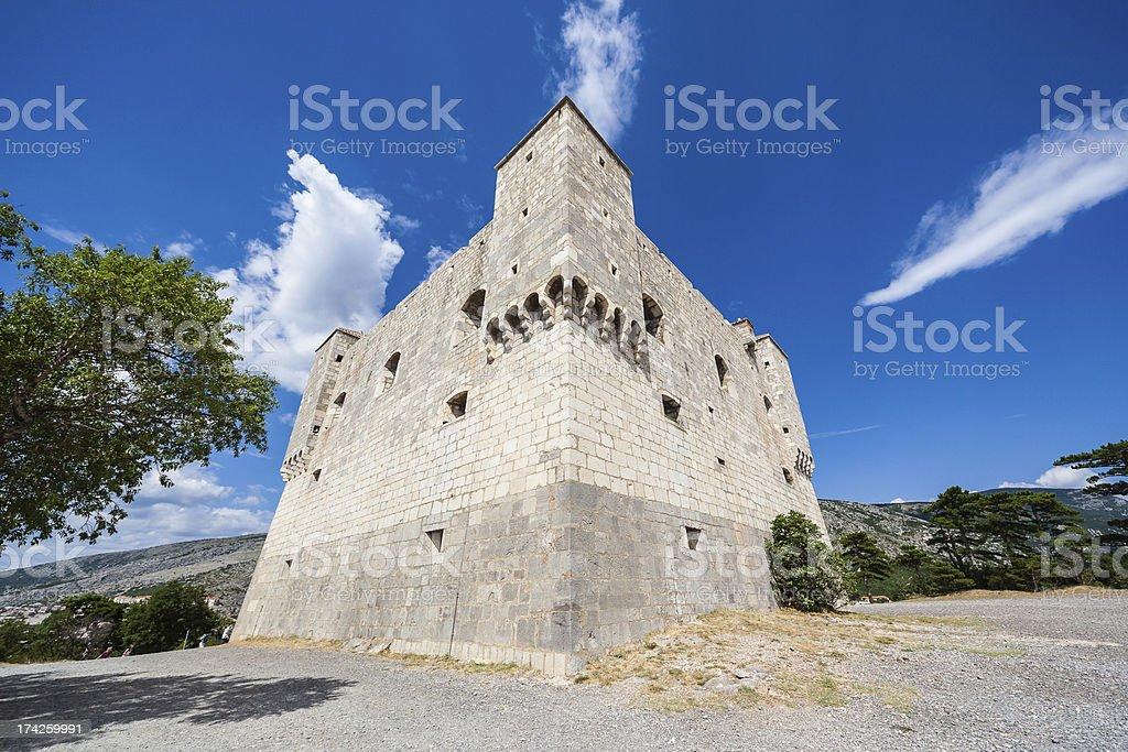 Nehaj  Fortress in  Croatia stock photo