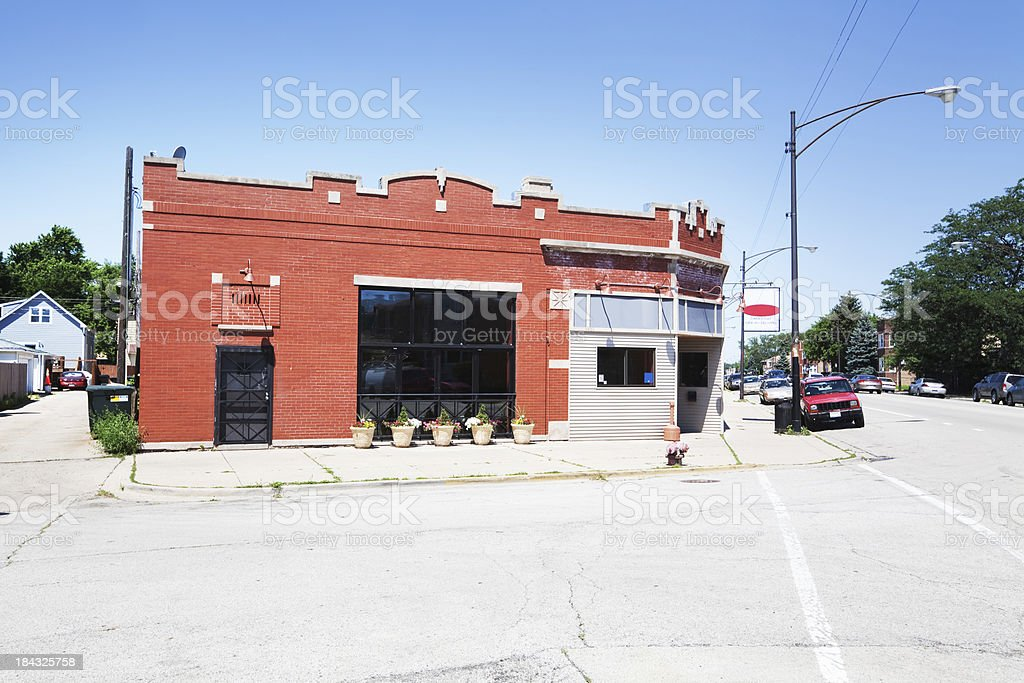 Neighborhood Bar in Jefferson Park, Chicago stock photo