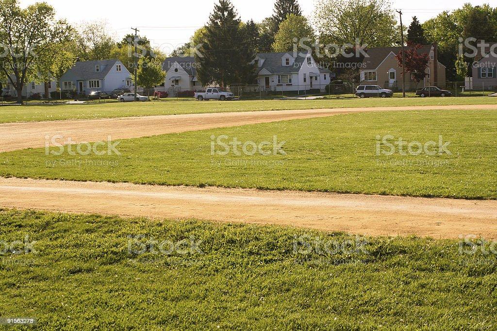 Neighborhood Baseball royalty-free stock photo