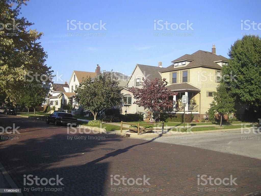 Neighborhood block stock photo