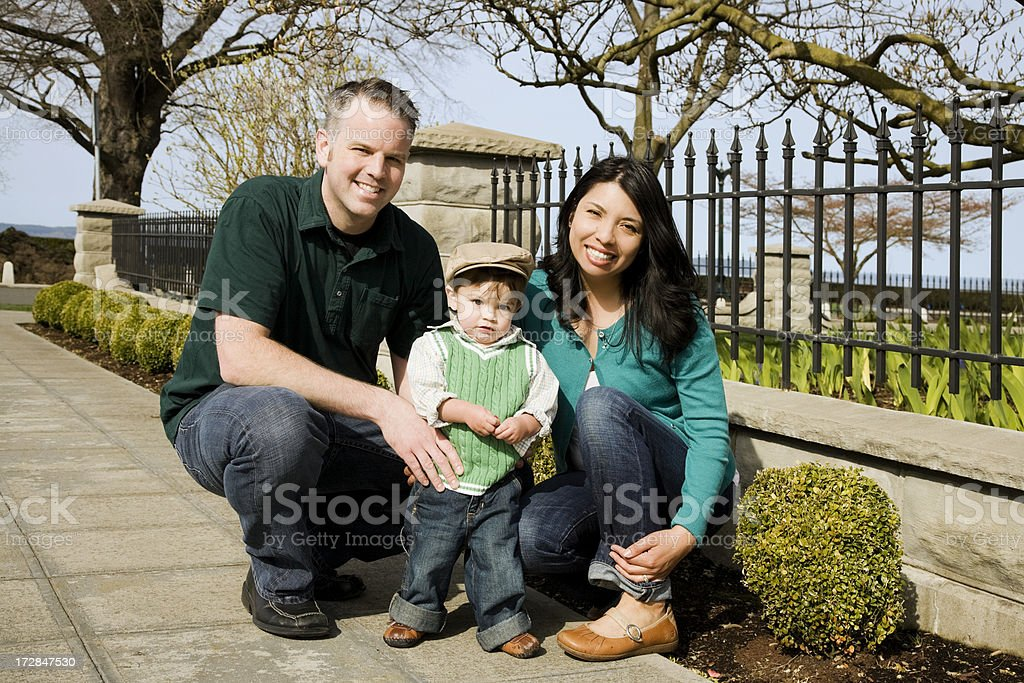 Neighborhood Family royalty-free stock photo