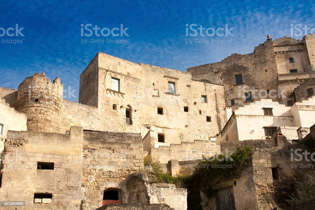 Neighborhood in Matera, Basilicata, Italy stock photo