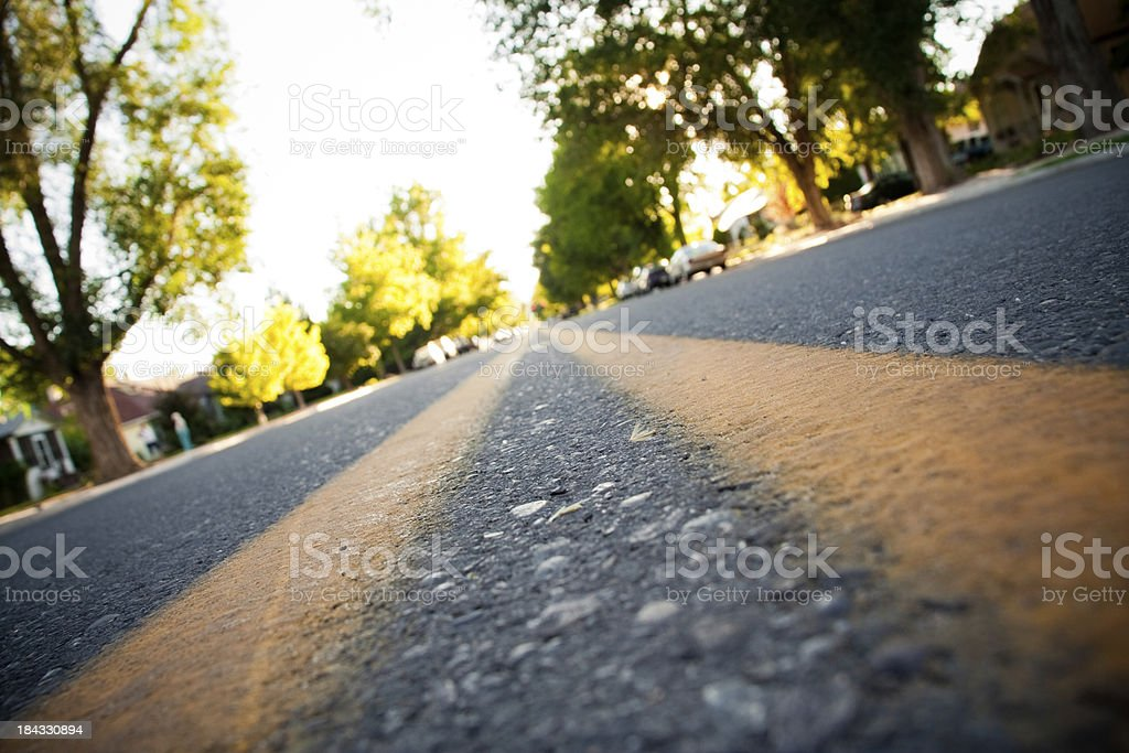 Neighborhood Lanes Tilted royalty-free stock photo