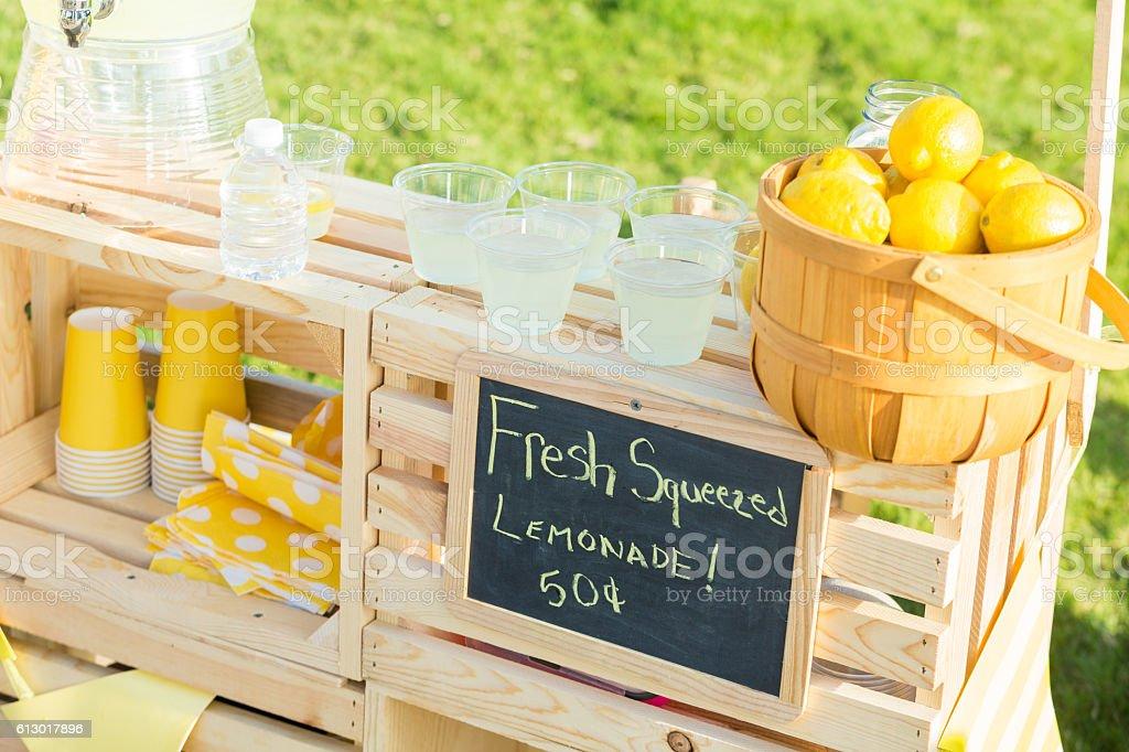 Neighborhood lemonade stand stock photo