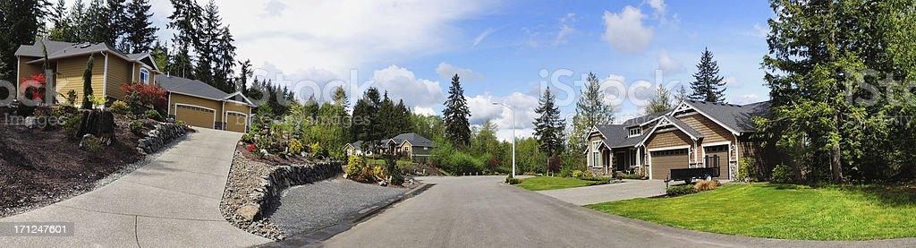 Neighborhood Panorama royalty-free stock photo