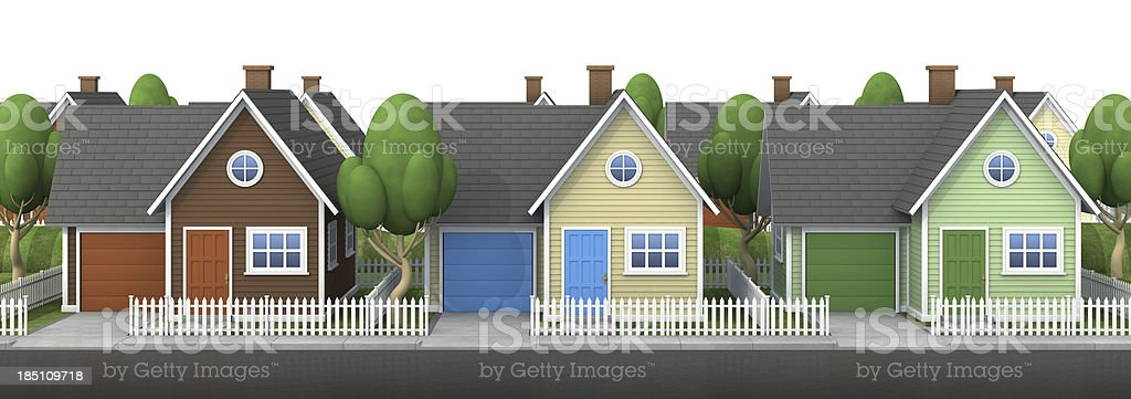 Neighborhood royalty-free stock photo