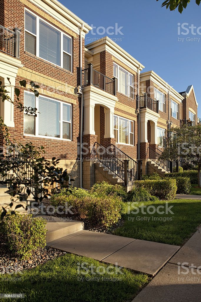 Neighborhood stock photo