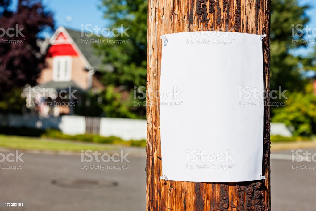Neighborhood Post royalty-free stock photo