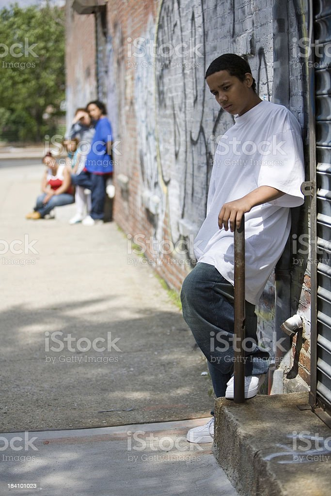 Neighborhood teens stock photo