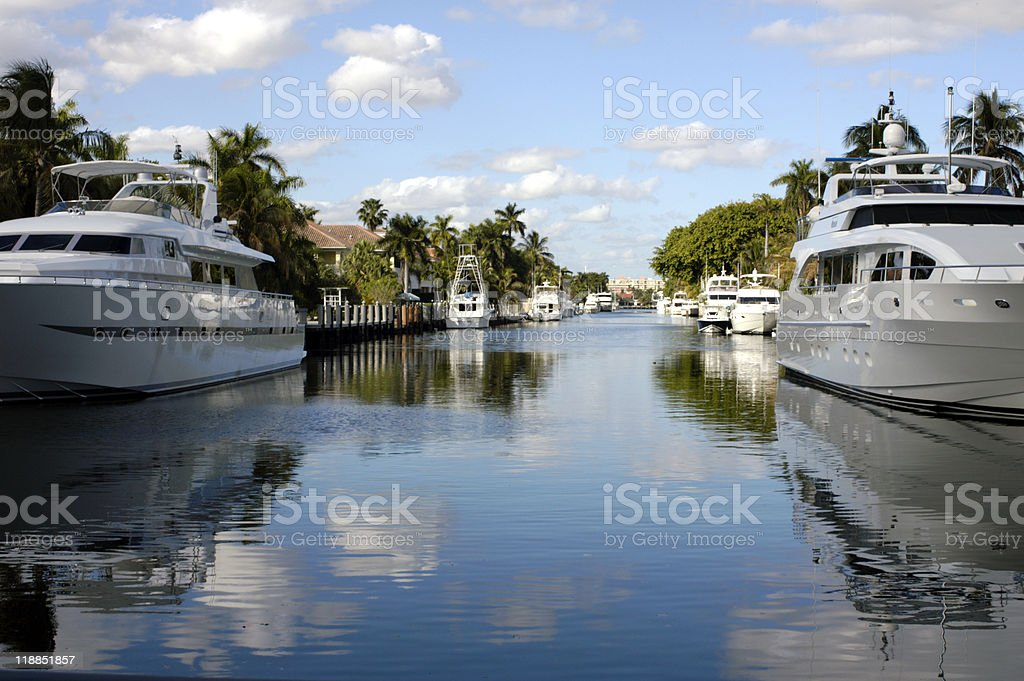 Neighborhood Yacht Parking royalty-free stock photo