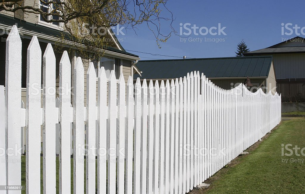 Neighbors Fence royalty-free stock photo