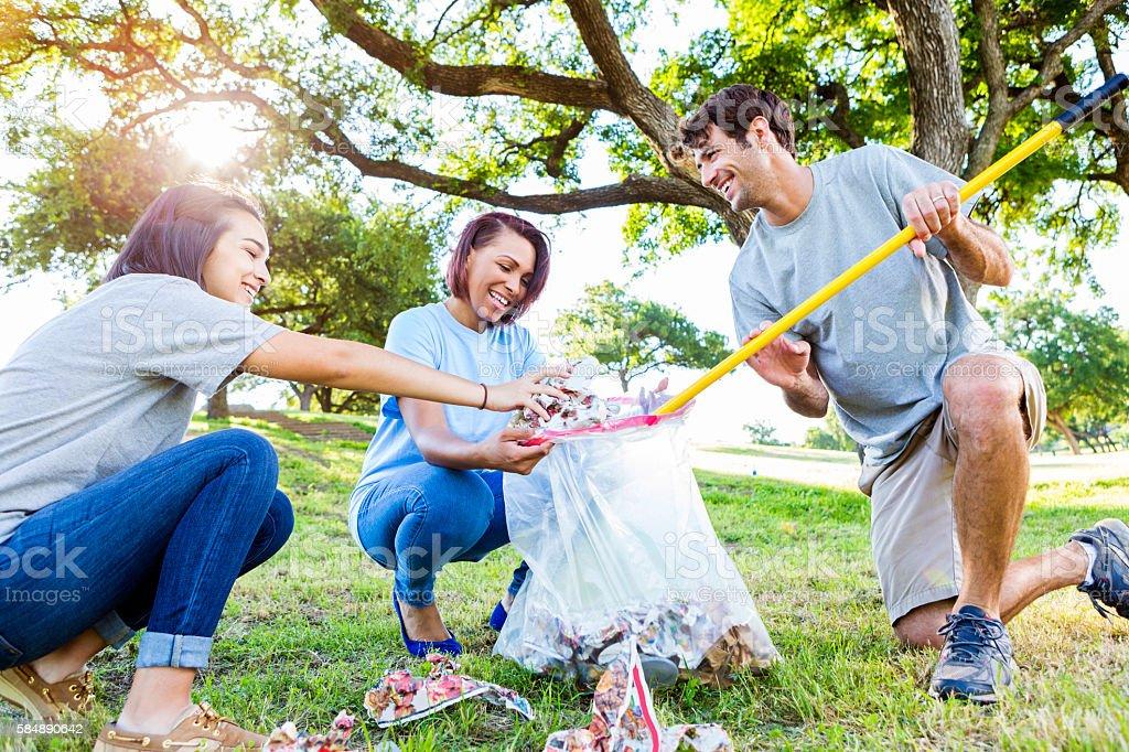 Neighbors help beautify their neighborhood stock photo