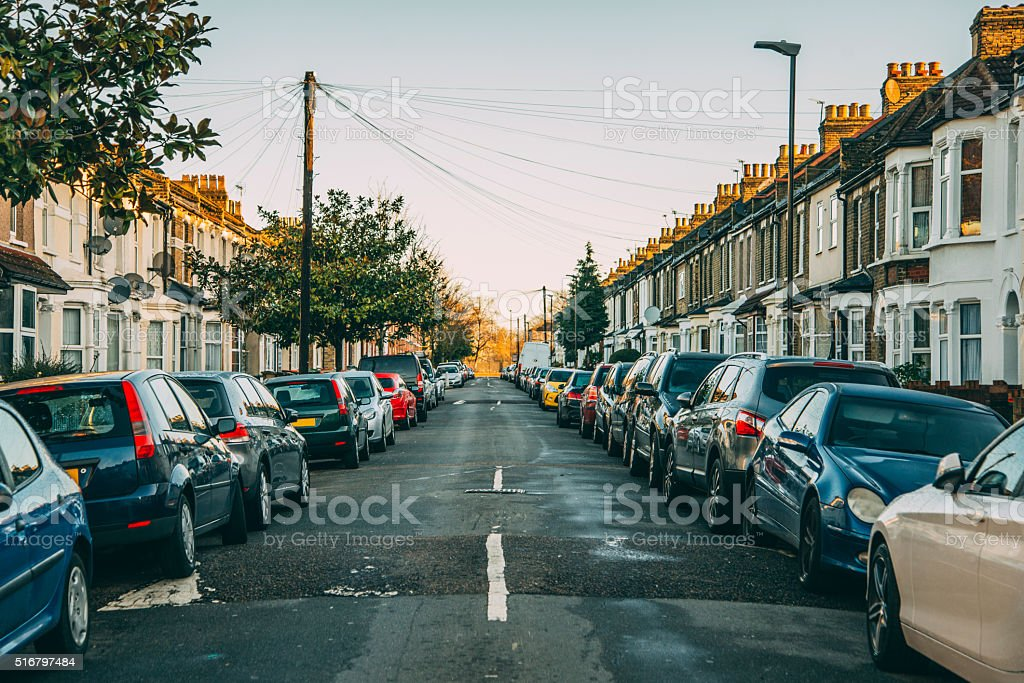 Neighbourhood in London stock photo