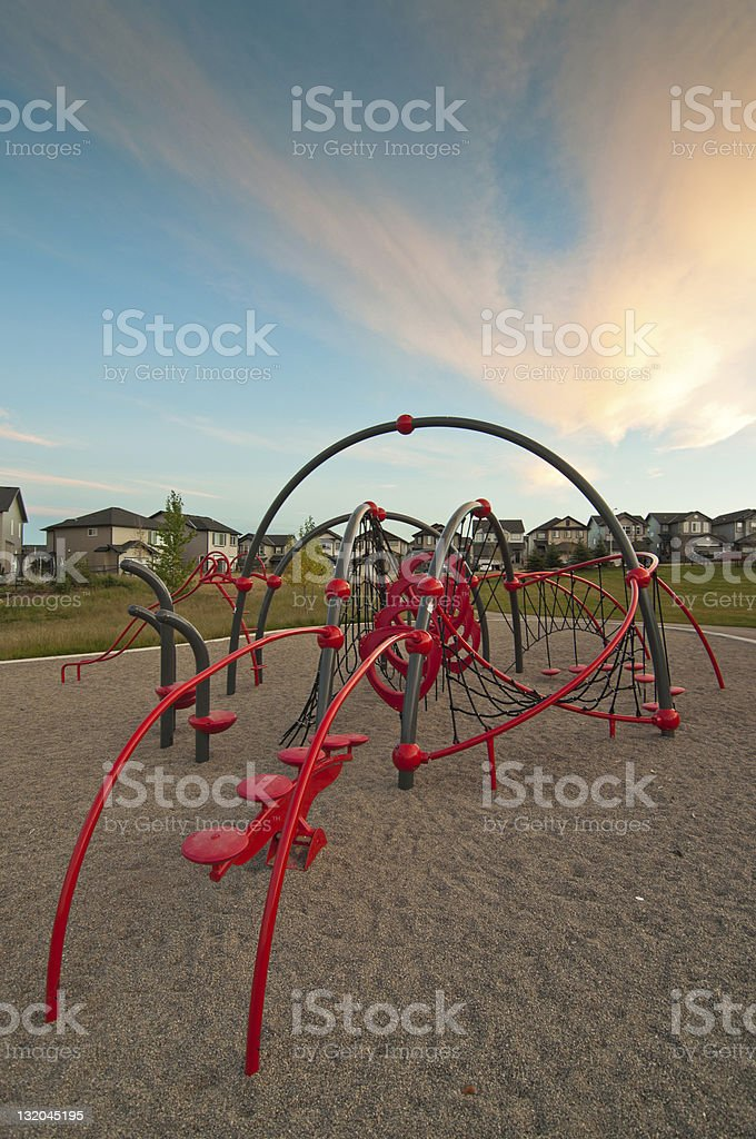 Neighbourhood playground stock photo