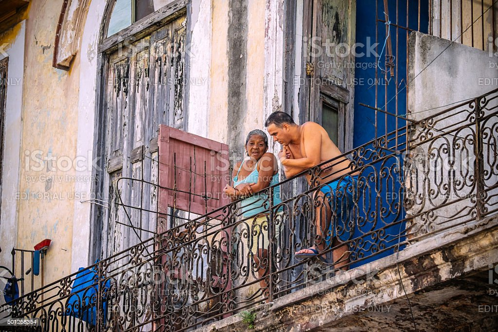 Neighbours from Havana stock photo