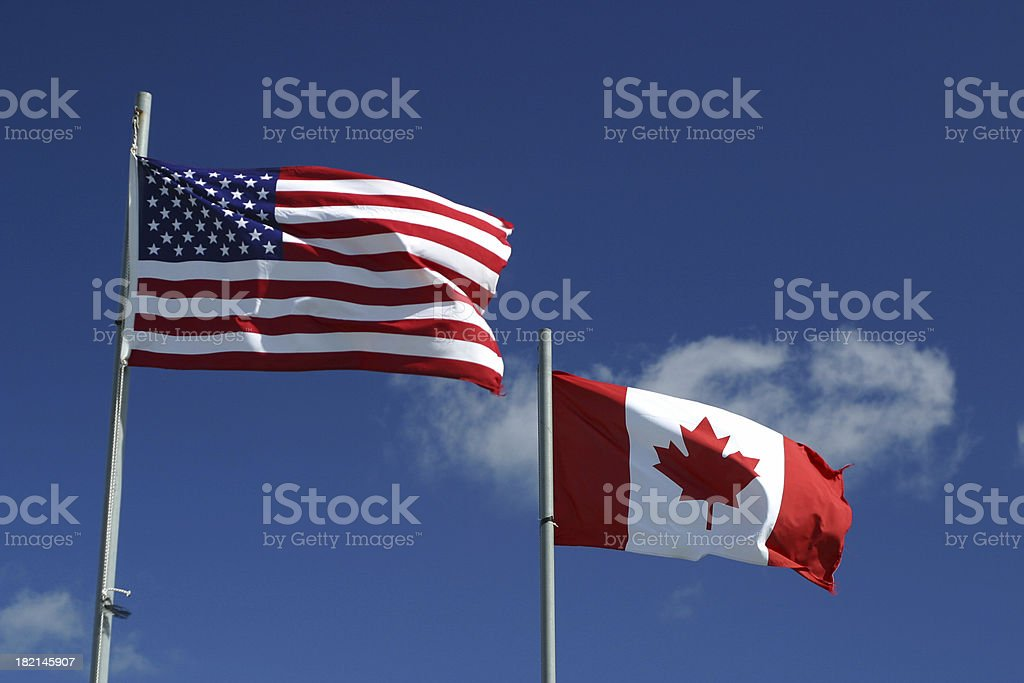 Neighbours of North America stock photo