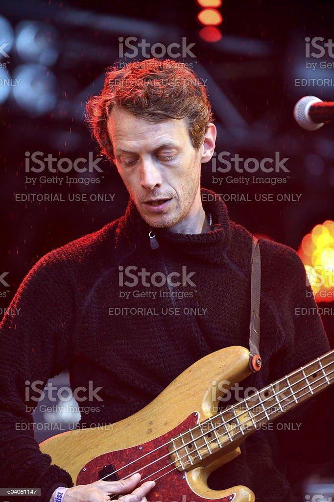 Neil Hamilton Wilkinson of English band British Sea Power stock photo