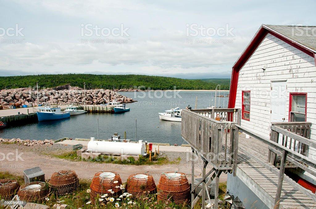Neils Harbor - Nova Scotia - Canada stock photo