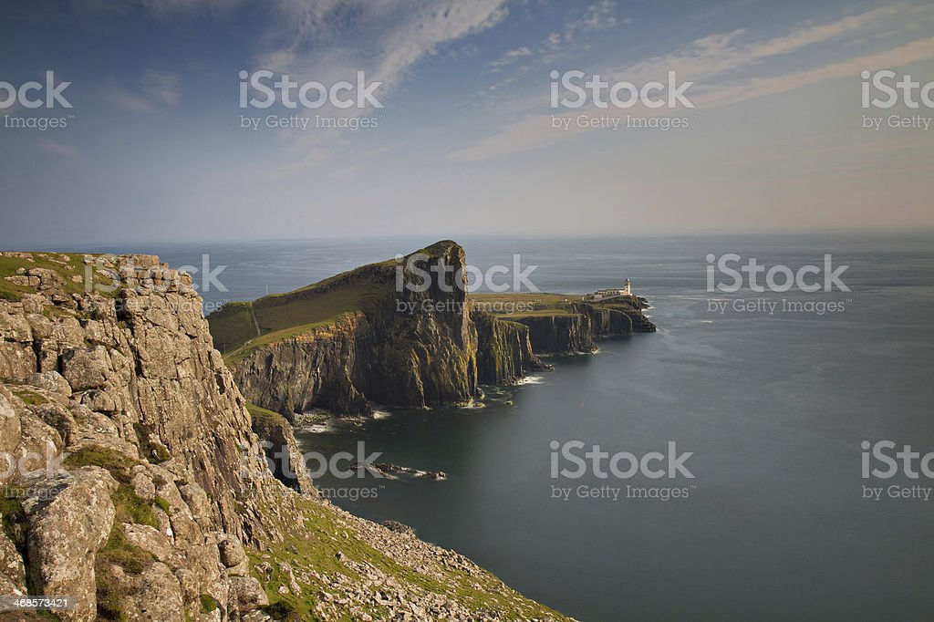 Neist Lighthouse at the Isle of Skye stock photo
