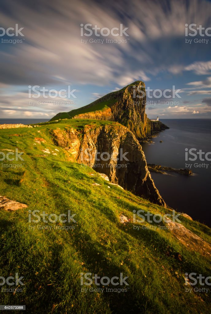 Neist Point cliffs stock photo