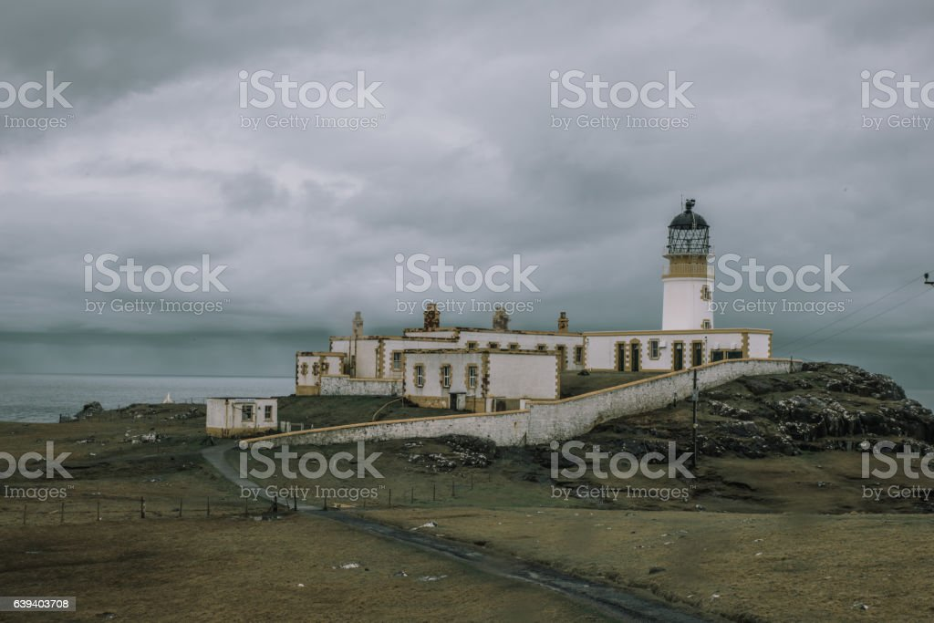 Neist Point Lighthouse In Skye stock photo