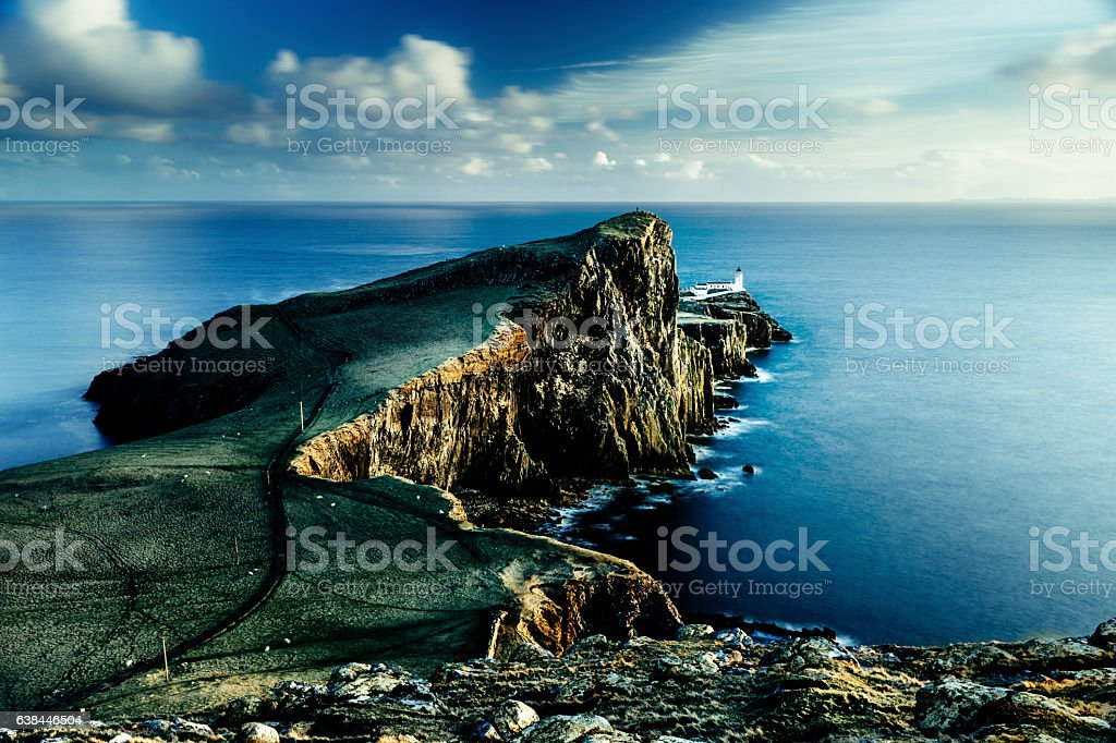 Neist Point lighthouse, Skye, Scotland. AdobeRGB. stock photo