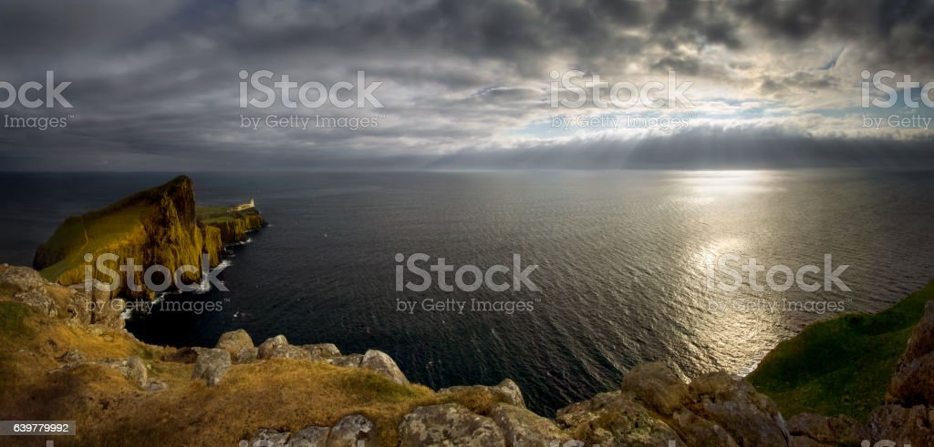 Neist Point Panorama stock photo