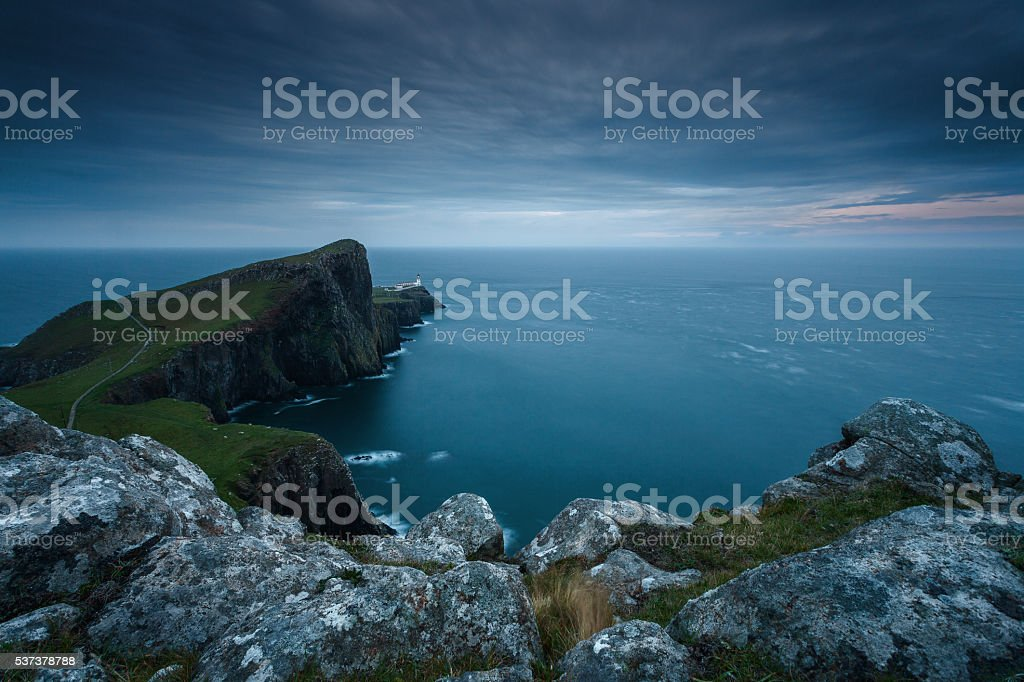 Neist point sunset stock photo