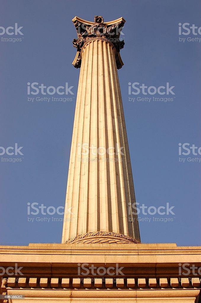 Nelson Column at Trafalgar Square stock photo