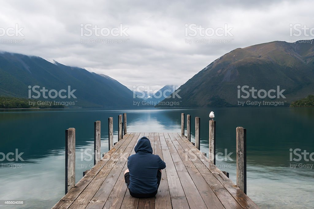 Nelson Lakes National Park New Zealand stock photo