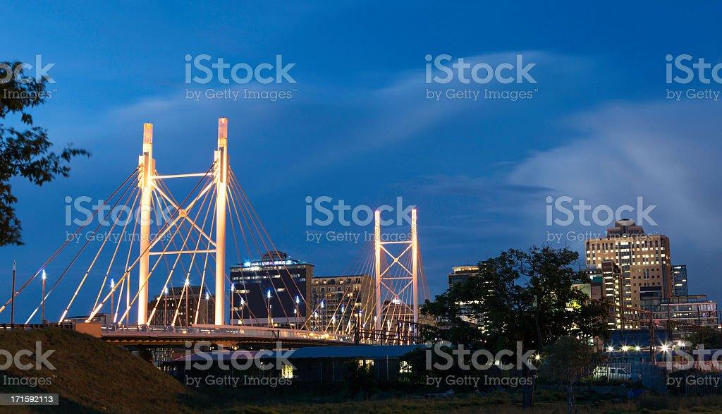 Nelson Mandela Bridge, Johannesburg stock photo